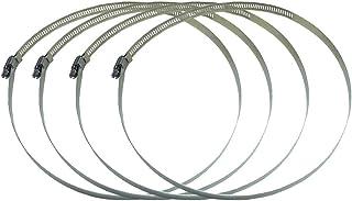 調整可能ステンレス鋼 ホースクランプ ホースバンド パイプクランプ 締め付け バンド 4個入 (直径Φ232~254mm)