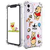 Joyleop Winnie Tiger Case for iPhone 11 6.1' Cartoon Soft TPU Cute 3D Fun Cover Kawaii Unique Kids Girls Women Boys Cases Funny Fashion Cool Character Clear for iPhone 11 6.1'