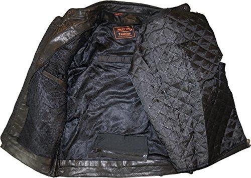 Motorrad Retro Lederjacke aus echtem Leder (L) - 6