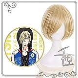 Yuri!!! on Ice Yuri Plisetsky Yurio Cosplay Wigs Short Blonde Heat Resistant Synthetic Hair Anime Costume Wig
