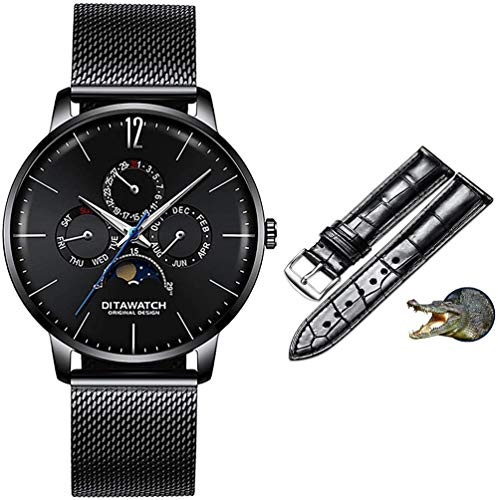 J& Z Men s watch Ultra-thin quartz watch Japanese boutique movement Four window design Suitable for all occasions K5-K2