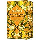 PUKKA Bio Zitrone, Ingwer & Manuka-Honig Tee, 1er Pack (20 x 2,0 g Teebeutel) - BIO