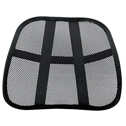 Omni Extra TM Comfortable Adjustable Breathable Cool Black Mesh Lumbar Back Support Fit All Types Office Chair Car Seat