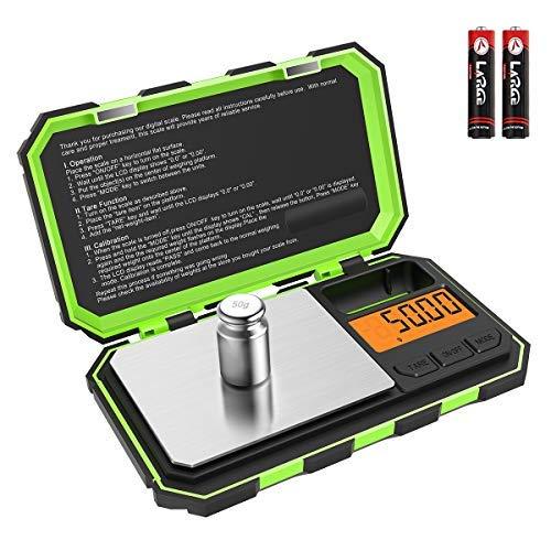 Brifit Mini Balance Numérique, Balance de Poche de Précision avec Poids de Calibrage 50g, 100g / 0,01g, Balance Intelligente Potable avec Rétroéclairage LCD