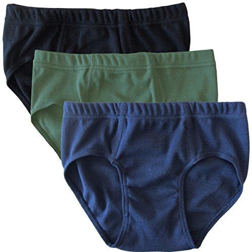 HERMKO 2850 3er Pack Jungen Slip aus 100% Bio-Baumwolle, Größe:116, Farbe:Mix s/m/o