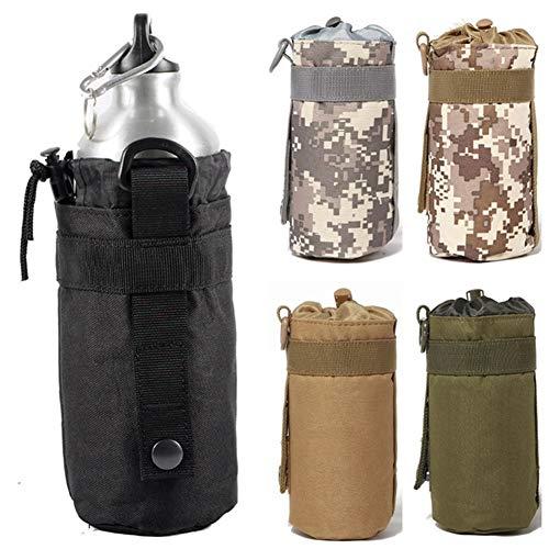 CUILANN Militar Táctico Botella De Agua Bolsa Bolsa Sistema Molle Cantina Caldera Portador Acampar Al Aire Libre Senderismo Caza Titular De Agua