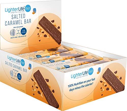 LighterLife Fast Salted Caramel Bar, Weight Loss Meal Replacement Bar, High...