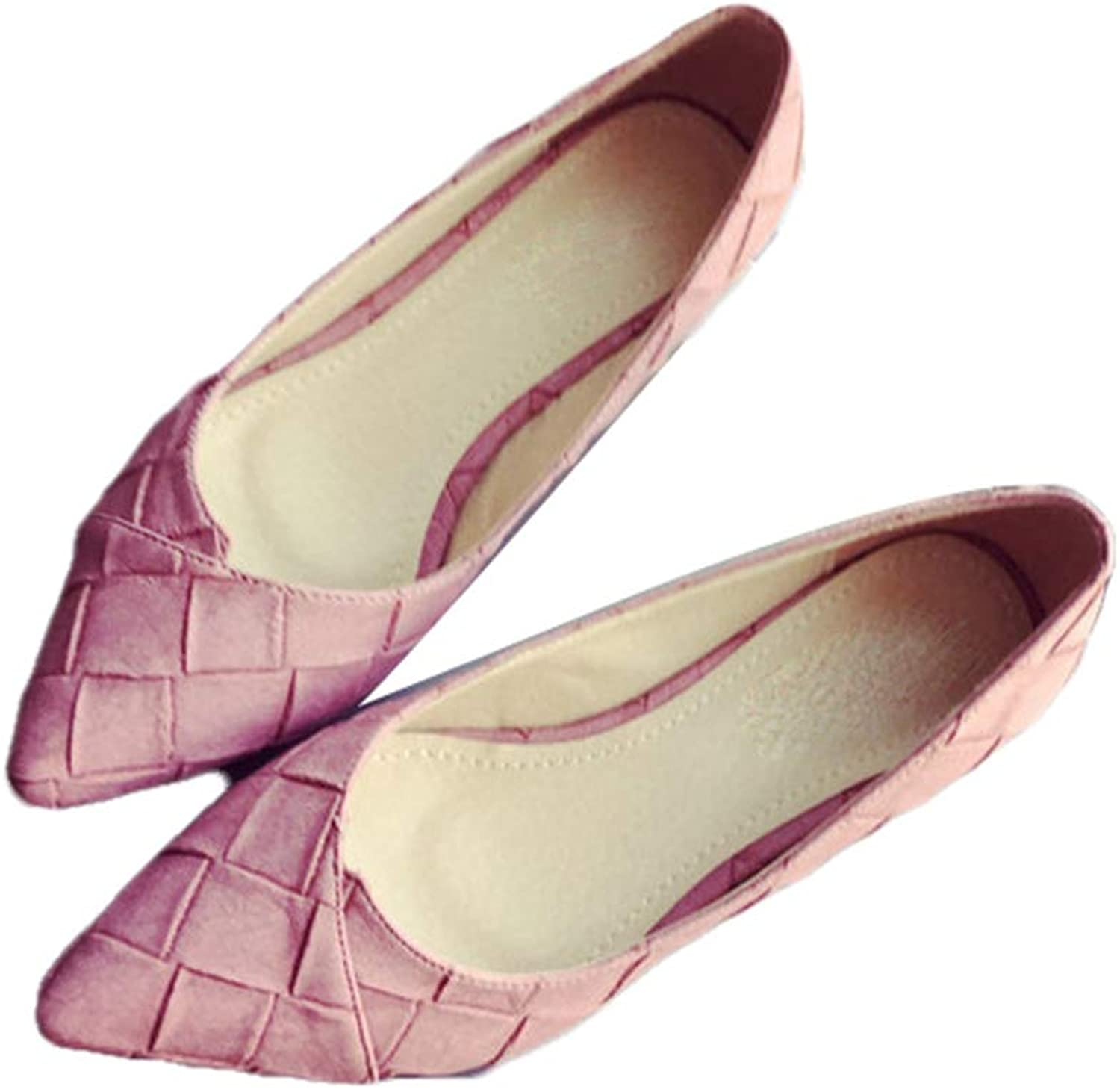 August Jim Women's Flats shoes,Pointed Toe Comfortable Wide Width Party Dress shoes