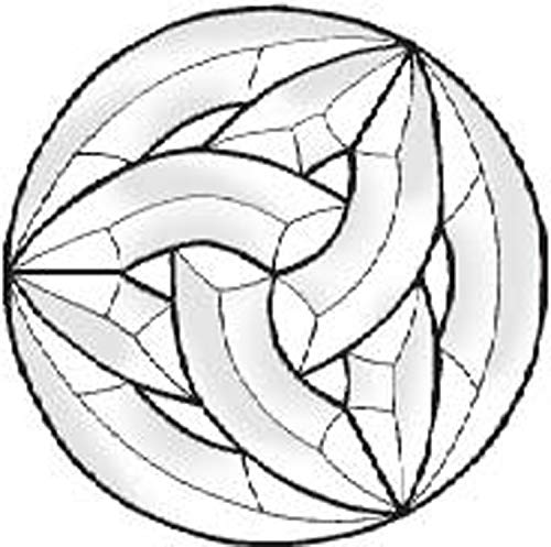 Stained Glass Supplies - Celtic Circle Bevel Cluster EC822 6 inch Diameter