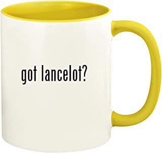 got lancelot? - 11oz Ceramic Colored Handle and Inside Coffee Mug Cup, Yellow