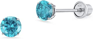 Best silver stud earrings with blue stone Reviews