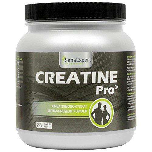 SanaExpert Creatine Pro (Creapure®), Bebida Deportiva para Aumentar l