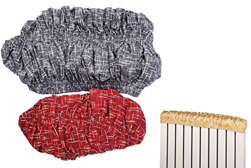 takestop® Housse de Protection Thermique pour radiateur en Coton avec Filtre Anti-poussière élastique Extensible pour protéger Les Murs Couleur aléatoire