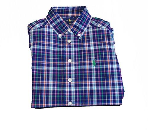 Ralph Lauren Hemd, langärmelig, kariert, Blau 6 Jahre