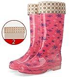 marca blanca Botas De Lluvia para Damas/PVC Impermeables Antideslizantes para Adultos Zapatos Impermeables/Botas De Lluvia De Moda/Botas De Lluvia De Temporada