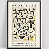 Paul Klee Poster Ästhetische Kunst Ausstellung Poster