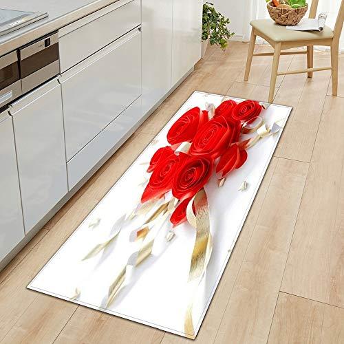 HLXX Alfombrilla Antideslizante para Cocina, Alfombrilla para Puerta de casa para Dormitorio, baño, impresión 3D, decoración del Suelo para el hogar, Alfombra para Sala de Estar A11, 60x180cm