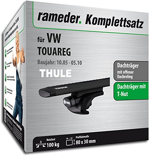 Rameder Komplettsatz, Dachträger WingBar EVO für VW Touareg (118176-04920-162)