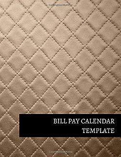 Bill Pay Calendar Template