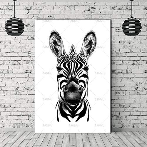 yaoxingfu Kein Rahmen Print ng Tier Wandkunst Bilder druckt auf leinwand kein Rahmen wohnkultur Wand Poster Dekoration für Wohnzimmer leinwand 40x60 cm