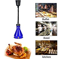 DAGCOT ウォーマービュッフェ料理のための分散型ベント長さ調節可能伸縮ペンダントランプと食品ウォーマーランプビュッフェ料理ヒートランプウォーマー食品加熱ランプ250W、5 (Color : 2)