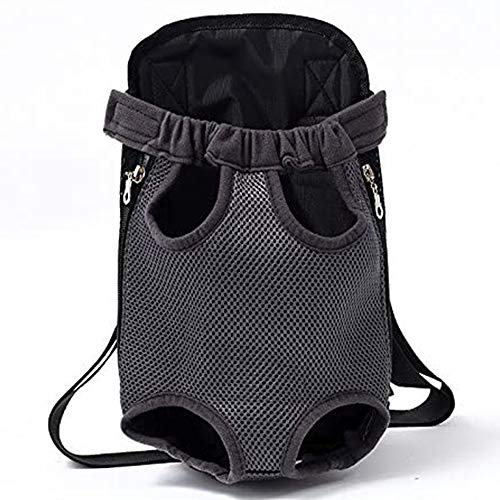 Companet Dog Chest Carrier, Adjustable Shoulder Strap Dog Chest Carrier, Four Legs Out Dog Holder Travel Bag, Front Dog Carriers for Small Dogs Outdoor Traveling (M)
