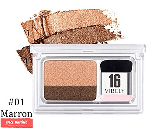 MAGIC EYES™ - FARD À PAUPIÈRES DUAL COLOR PARFAIT - fard à paupières deux couleurs maquillage (marron)