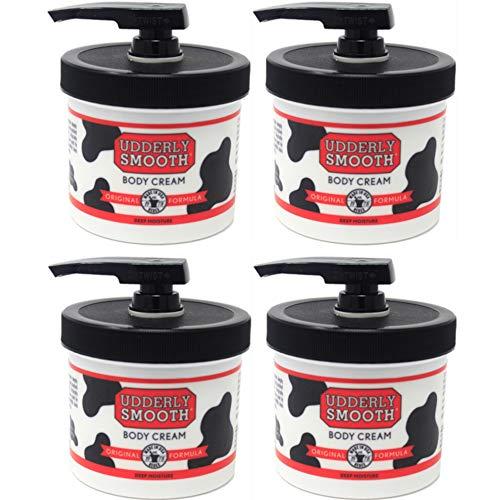 Crema idratante per la pelle Udderly Smooth Body Cream, barattoli da 10 once con dosatore (confezione da 4)