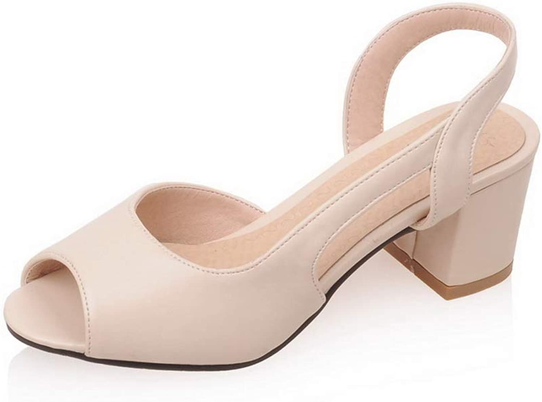 BalaMasa Womens Travel Solid Non-Marking Urethane Sandals APL10465