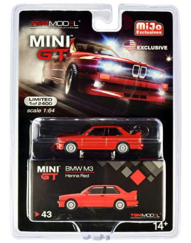 M3 (E30) Henna Red Limited Edition to 2400 Pieces Worldwide 1/64 Diecast Model Car by True Scale Miniatures MGT00043