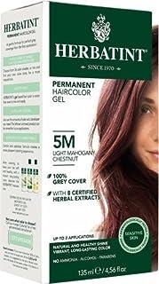 Herbatint Permanent Haircolor Gel 5M Light Mahogany Chestnut - 135 mL