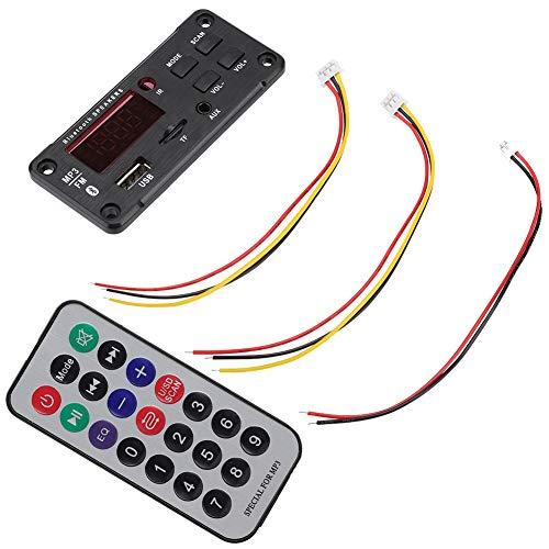 Dilwe Placa de decodificación de MP3 con Bluetooth, Placa de decodificación de MP3 WMA Módulo de Audio inalámbrico con LED, módulo de decodificación de Pantalla a Color