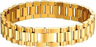 Bandmax 316L Stainless Steel Emgraved EMC Alert ID Message Medical Symbol Men Women Curb Chain Bracelet Bangle Adjustable ...