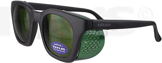 Titus Óculos de segurança de soldagem IR estilo retrô com escudo lateral dobrável (padrão, IV #5)
