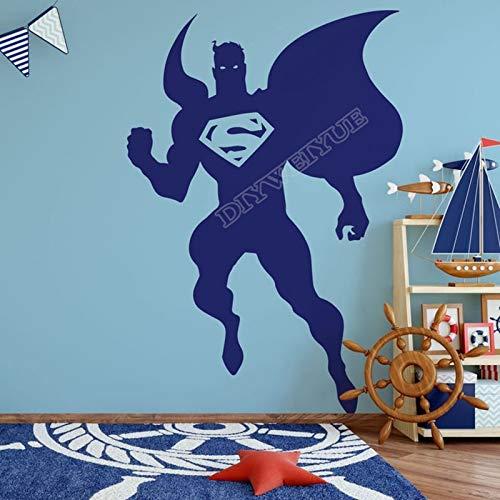 Use Superman Vinyl Wall Stickers Superman Silhouette Aircraft Animation Kids Room Cartoon