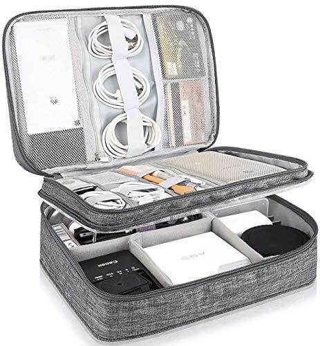 Kabeltasche Wasserdicht Elektronische Tasche Universal Festplattentasche Groß Kabel Organizer Tasche Elektronik Zubehör Organisator für Handy Ladek