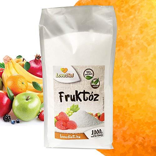 LoveDiet Fructose Zucker 1000g | Fruchtzucker | Natürlicher Zuckerersatz | Zuckerfreie Süssigkeiten | Natural Gelierzucker für Marmelade oder Gelee l Zum Süßen Backwaren l Perfekt für tee und Coffee