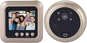 Digital Door Viewer, 2.4 Inch 1080P Peephole Door Camera, Home Security Doorbell with 166 Degree Lens View for Home Security (When You Receive The Order, Please re-Install The Battery Correctly!) (1)