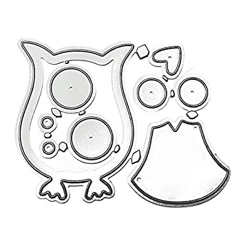 Metal Cutting Dies Owl Template Moulds Embossing Stencil Tools for DIY Scrapbooking Album Paper Crafts Wedding Card Making