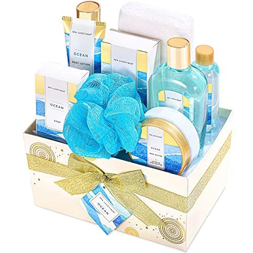 Spa Luxetique Bath Gift Set, 10pcs Ocean Spa Gift Set, Pamper Hampers for...