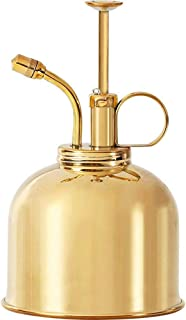 Sustainable Village Brass Mister - Watering Spray Bottle Vintage Style Spritzer Pump - One Hand Watering Device