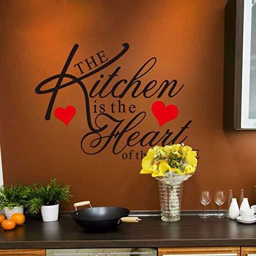ONETOTOP La Cocina es el corazón del hogar y el cortafuegos para Quitar el Vinilo removedor de la Pared. Kitchendecorative wallstickers60 * 43cm
