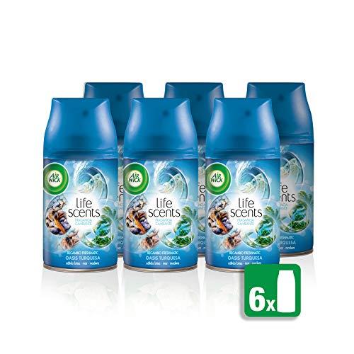 Air Wick Freshmatic Recambios Fragancia Oasis Turquesa - pack de 6 x 250 ml - Total: 1500 ml