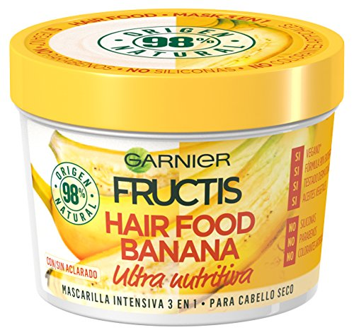 Garnier Fructis Hair Food Banana Mascarilla 3 en 1 - 390 ml