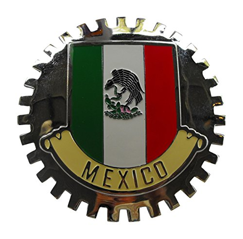 Classic Auto Spares B1101 Mexican Flag Car Grille Badge MEXICO