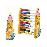 Bueno para el cerebro CHNWJ-juguetes de madera del ábaco de madera clásico juguete infantil Abacus juguete de desarrollo de aprendizaje Abacus juguete - Abacus for niños preescolares 2 años de Y arrib