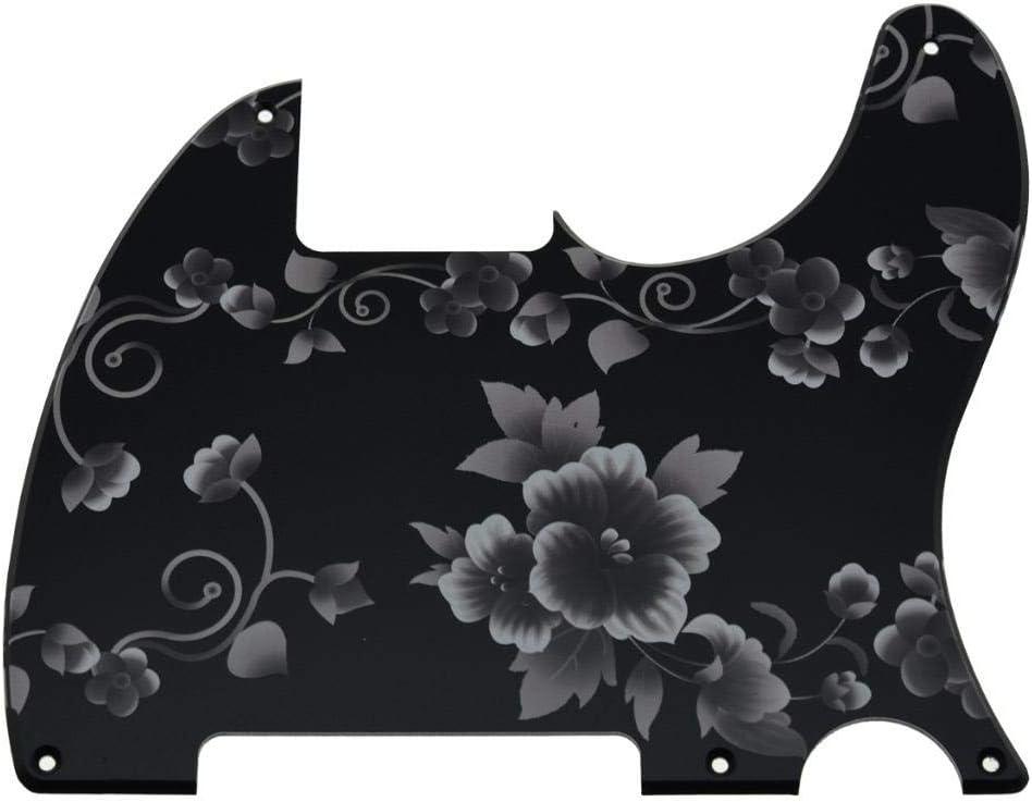 KAISH Golpeador de pl/ástico impreso en 3D con 5 agujeros para guitarra en blanco para Fender Telecaster Esquire Leopard Pattern