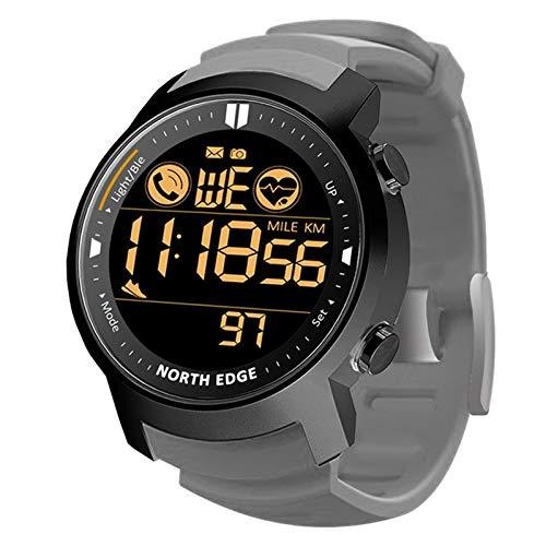 Herren Sport Digitaluhren - Outdoor wasserdichte Sportuhr mit Alarm/Timer, NORTH EDGE LAKER Fitness Smartwatch Sport Schrittzähler Schlafmonitor
