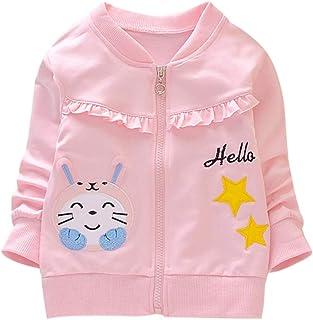 Shiningbaby Baby Girl Cardigan Autumn Hello Cartoon Printed Jacket Fashion Outwear Kid Coat for Age 2-6 Years Old