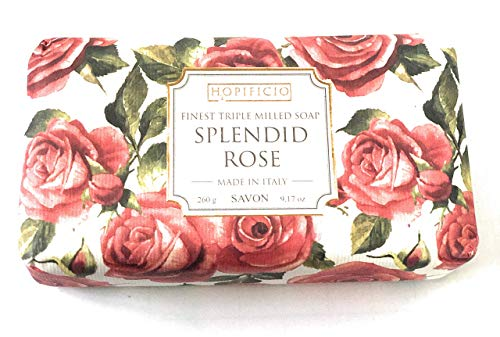 Hopificio Splendid Rose Triple Milled Luxury Italian Soap Bar 8.1 Oz